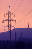 Electric wire tower Stock Photos