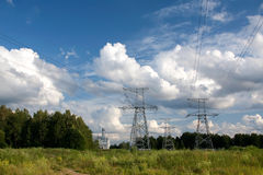 Electric wires Royalty Free Stock Image