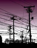 Electric wires Royalty Free Stock Photography