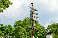 Electric wires Stock Photos
