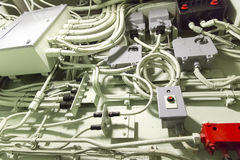 Electric wiring cabling industry Stock Image