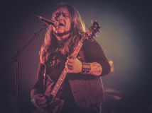 Electric Wizard, Justin Oborn live in concert 2017. Electric Wizard are an English doom metal band from Dorset. The band formed in 1993 and have recorded eight Stock Photography