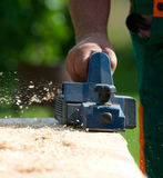 Electric wood planer Royalty Free Stock Photos