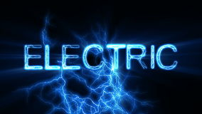 Electric Word Text Animation with Electrical Lightning stock video