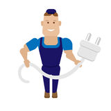 Electric worker Royalty Free Stock Photos