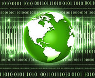 Electric world. Green earth globe with lighting spectrum Stock Images
