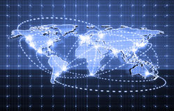 Electric world map Royalty Free Stock Images