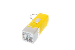 Electric yellow pocket led flashlight or torch Royalty Free Stock Photography