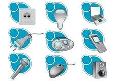 Electric_icons Stock Photo