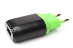 Electrical adapter to USB port Stock Image