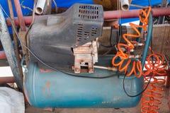 Electrical Air Compressor Pump machine. Electrical Air Compressor Pump machine stock photo