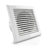 Electrical air vent fan. Isolated on white background 3d Royalty Free Stock Images