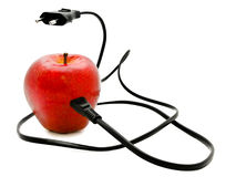 Electrical apple Royalty Free Stock Photos