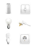 Electrical appliance. Objects on white background Royalty Free Stock Image