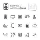 Electrical & appliance related icons Royalty Free Stock Photo