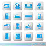Electrical appliances icons set Royalty Free Stock Photos