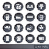 Electrical appliances icons set Stock Photo
