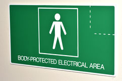 Electrical Areas sign and symbol Royalty Free Stock Photos
