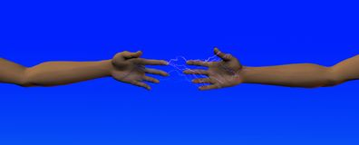 Electrical attraction Royalty Free Stock Photo