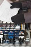 Electrical and automation engineer stock photo