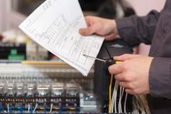 Electrical and automation engineer royalty free stock photo