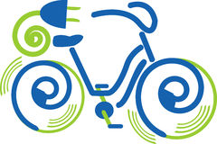 Electrical bike vector illustration