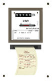 Electricity bill, watthour meter. Isolated Stock Photography