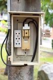 Electrical breaker panel Stock Photos