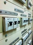 Electrical breakers BBC Brown Boveri Electric Royalty Free Stock Photos
