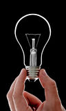 Electrical bulb in hand Stock Photo