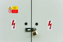 Electrical cabinet Royalty Free Stock Images