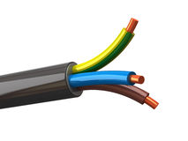 Electrical cable. 3d illustration of electrical cable wires royalty free illustration