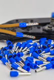 electrical cable with insulated tip, closeup Stock Images