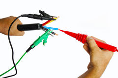Electrical cable testing Stock Image