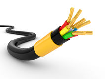 Electrical cable on white Stock Images