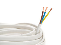 Electrical cable on White background Stock Images