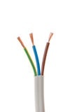 Electrical cable on White background stock image