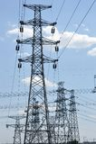 Electrical Cables And Towers Royalty Free Stock Photos