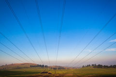 Electrical Power Cables Hanging Landscape Royalty Free Stock Image