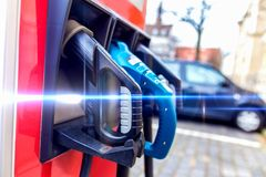 Electrical car charging station Royalty Free Stock Image