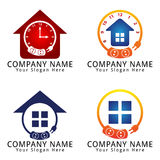 Electrical Care Logo with Home Concept Royalty Free Stock Image