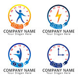 Electrical Care with Watch Frame Concept Logo Royalty Free Stock Images
