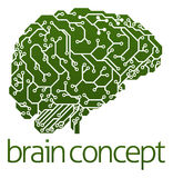 Electrical circuit board brain Royalty Free Stock Photography