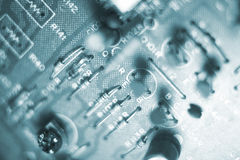 Electrical circuit board electronics Royalty Free Stock Photos