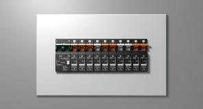 Electrical Circuit Breaker Panel Royalty Free Stock Photo