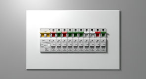 Electrical Circuit Breaker Panel Royalty Free Stock Photography