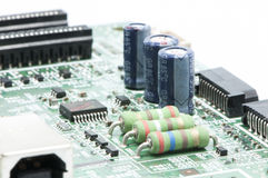 Electrical circuit. In the electric plate welded Stock Photo