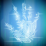 Electrical circuit. Stock illustration. Stock Image