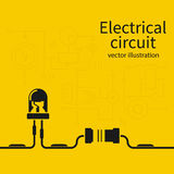 Electrical circuit template. Royalty Free Stock Image