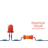 Electrical circuit template Royalty Free Stock Photo